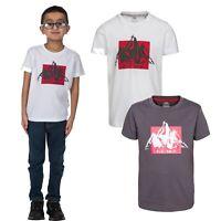 Trespass Noa Short Sleeve Boys T-Shirt Cotton Blended Summer Top Tee For Kids