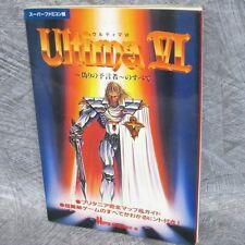 ULTIMA VI 6 Itsuwari no Yogensha Guide Book SFC JI*