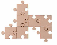 Wooden Jigsaw Puzzle Pieces Laser Cut MDF Jigsaw Craft Blank shapes