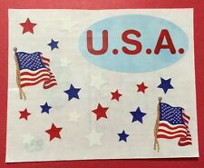 "USA Sticker Sheet Aprox.5""x 4"" Creative Memories🇺🇸Fourth Of July🇺🇸Flag🇺🇸"