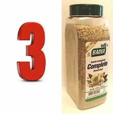 complete seasoning 3 X1.75 lb sazon completa spices,BADIA,FOR MEATS,FISH,POULTRY