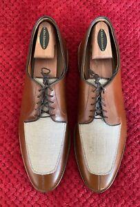 "Allen Edmonds ""Ramsey"" Brandy Leather x Linen Shoes 12 D"