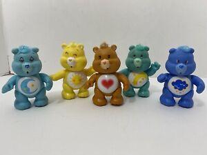 Lot of 5 Poseable Care Bears Figures Bedtime Funshine Tenderheart Wish Grumpy