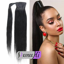 """16"""" 20"""" 24"""" 26"""" High Straight ponytail clip-In 100% real human hair extensions"""