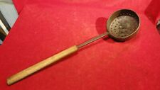Great Civil War Era Camp Icoffee Bean Roaster With Wooden Handle