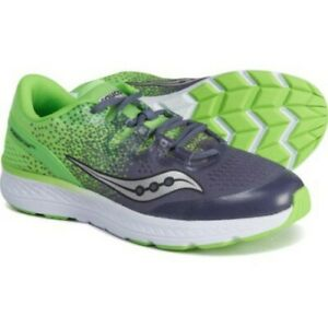 Saucony Boy's Freedom ISO Sneaker, Gray/Slime Size 1 M NEW!!