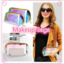 √Holographic Makeup Bag Iridescent Cosmetic Pouch Waterproof Portable Handbag