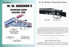 Ww Greener 1920 Sporting Guns and Accessories Catalog