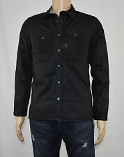 G-Star Raw Mens Wolker Padded Overshirt Black Fully Lined Jacket M