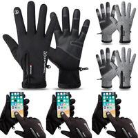 Men Winter Gloves Touch Screen Fleece Lined Cycling Sports Outdoor Warm Mittens