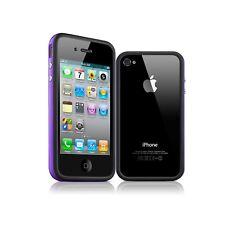 Coque Housse Etui Bumper pour HQ Noir / Violet Pour iPhone 4S / 4 + film av / ar