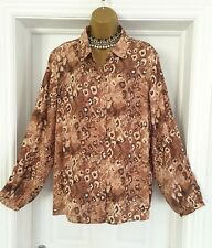 Tu Animal Print Blouse Size 22 BNWT