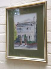 Australian Watercolor Painting''Victorian Terrace'  Bridge RdGlebe Sydney Signed
