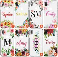 Personalised Floral Custom Name Text Case Monogram Slim Phone Case for iPhone |