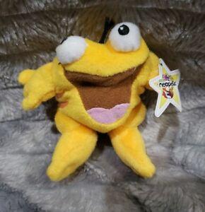 """Neopets Orange Quiggle Frog McDonalds Mini Promo Plush Stuffed Toy 4"""""""