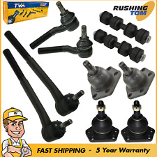 4 Front Ball Joint 2 Sway Bar 4 Tie Rod fits 1997-2003 2004 Chevrolet S10
