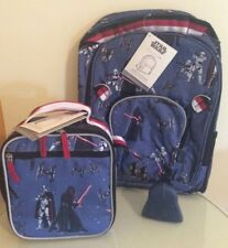 $97 NEW Pottery barn STAR WARS LARGE BACKPACK + LUNCH BOX + DARTH VADER Ice Pack
