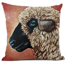 Kissenhülle Kissenbezug Motivkissen Canvas-Stoff Schaf