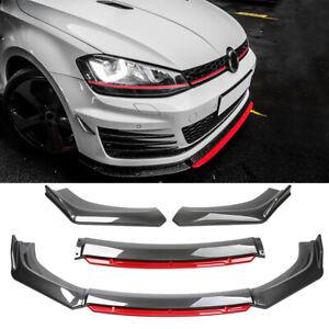 For Volkswagen VW Golf GTI MK5 MK6 MK7 Carbon Front Bumper Lip Splitter Spoiler