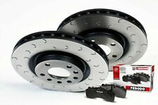 Mazda RX8 Brake Discs Pads Front C Hook Grooved Discs Ferodo Pads 323mm