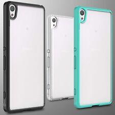 For Sony Xperia XA Case Hard Back Soft Bumper Hybrid Slim Cover