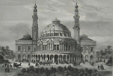 1886 Large Antique Prints- The People's Palace or Queen's Hall, Mile End, London