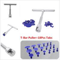 Paintless Dent Repair Hail Removal T Bar Slide Hammer +18Pcs Glue Puller Tabs
