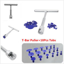 Paintless Dent Repair Hail Removal T Bar Slide Hammer +18Pcs Glue Puller Tabs