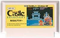 """NINTENDO FAMICOM """" CASTLE EXCELLENT """" CASTLEQUEST ASCII NES FC JAPAN"""