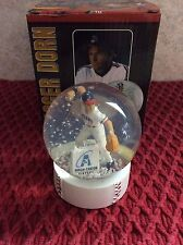 2013 Akron Aeros Roger Dorn Snow Globe In Good Condition!