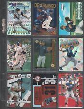 ALEX RODRIGUEZ ~ Lot of (9) Different Baseball Insert Cards w/ Sheet RARE! (A2)