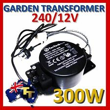 OUTDOOR GARDEN LIGHT LIGHTING TRANSFORMER 12VAC 300WATT HBF-300B  WEATHEPROOF