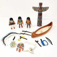 Playmobil Native American Totem Pole Shields Bow Arrow Rifle Canoe 3250 4012