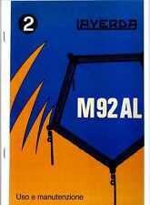 Mietitrebbia Laverda M 92 AL manuale uso e manutenzione, combine, moissonneuse