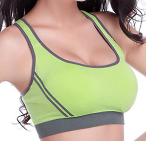 Women Sports Bra for Yoga, Running, Fitness, Workout Seamless Padded (Removable)