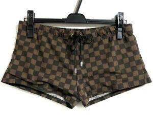 Louis Vuitton Damier Ebene Brown Swim Shorts Pants wear Size L