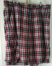 ACCESS  Mens Red Black White Short Cargo Polyester Pants sz 44 inseam 13""
