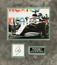 LEWIS HAMILTON AUTHENTIC SIGNED F1 MOUNTED DISPLAY AFTAL#198