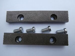 Irwin Record PT.D Replacement Pair Jaws & Screws 100mm No 3 Vice. FREE POST