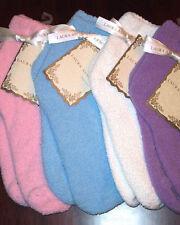 Laura Ashley Women's Warm Fuzzy Slipper Socks Purple NWT