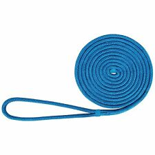 Boat Dock Lines 1/2 Inch 25 FT Mooring Rope Anchor Line Double Braid Nylon Blue