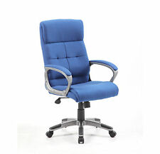 Dereham Managers Large Padded Blue Fabric Swivel Chair *£100 + Vat *FREE DEL*