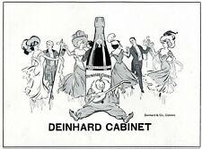 Champagne Deinhard 1912 ad carneval masked ball advertising sad clown mandolin
