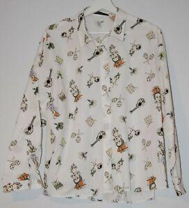 Zara XL BNWoT Carmen Miranda shirt blouse guitarron drum musical retro vintage