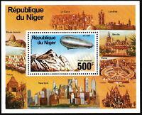 Niger - Zeppelin-Luftschiffe Block 14 postfrisch 1976 Mi. 527
