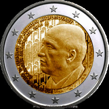 "GRECIA GREECE GRIEKENLAND 2 € EURO 2016  "" MITROPOLUS "" FDC BU ST DA ROTOLINO"
