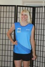 2012 Standard Chartered Singapore marathon runner tank -Asics-blue -Men's Medium
