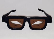 2 Pair Almond Eye Glasses Dark Skin No Brows (Chop Suey) Made in USA