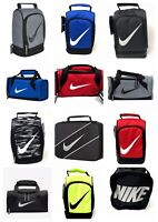 Nike Kids Insulated School Lunch Box Tote Bag Duffel Swoosh Logo Red Black Blue