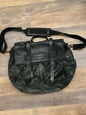 Black Leather Belstaff Colonial Messenger / shoulder Bag